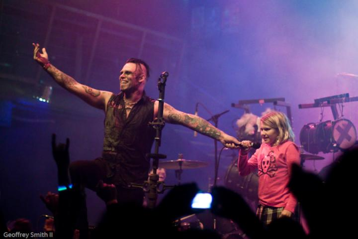 Matea with Andy (Combichrist) SF 2009